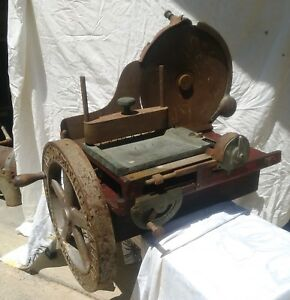 Vintage The Computing Scale Co Brass Cast Iron Meat Slicer Dayton Ohio