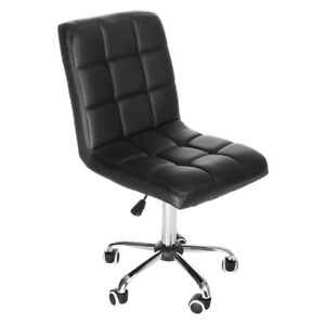 Office Chair Pu Leather Executive Ergonomic Desk Task Computer Mid Back Black