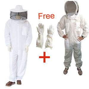 Ultra Ventilated 3 Layer Bee Beekeeping Suit Round Fencing Veil Bee Suit Glove