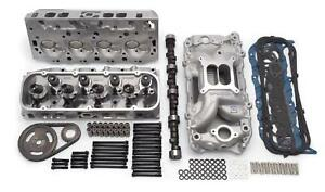 Edelbrock 2095 Chevy 454 Bbc Topend Kit Aluminum Heads Cam Intake 540hp 9 6 1