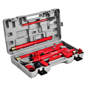 10 Ton Heavy Duty Auto Body Frame Porta Power Hydraulic Jack Repair Kit Ram Lift