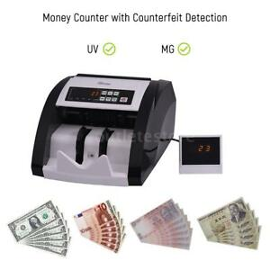 Money Counter Cash Currency Counting Machine Uv mg Counterfeit Detection S8k0