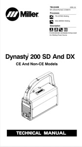 Miller Dynasty 200 Sd Dx Effective With Lc339215 Service Manual