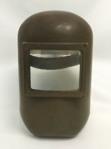 Fibre metal 990 3c Vintage Flip Fiberglass Welding Helmet Clear Eye Window