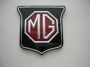 Mg Mgb Midget Grill Badge Emblem Mgb Years 61 69 Black