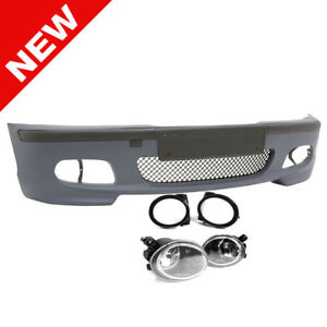 99 05 Bmw E46 3 series 4dr M tech Ii Style Front Bumper W Clear Fog Lights