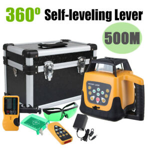 Green Laser Level 360 Rotary Laser Self Leveling Remote Control Glasses Case