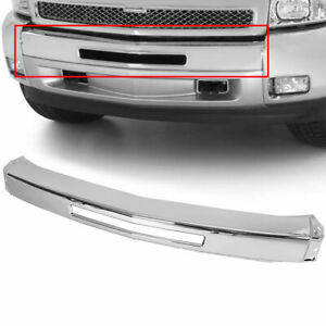 For 2007 2013 Chevy Silverado 1500 Chrome Steel Front Bumper Impact Face Bar New