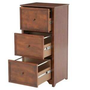 41 In File Cabinet Home Office 3 drawer Wood Wooden Storage Organizer Filing
