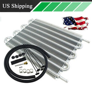 Us Shipping 8 Row Aluminum Cool Down Engine Oil Transmission Cooler Radiator Kit