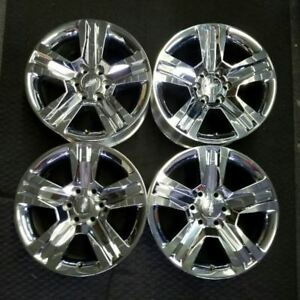 Set Of 20 Chevy Silverado 1500 2016 2017 2018 Chrome Oem Alloy Wheels Rims 5755