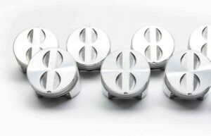 Engine Pistons Sealed Power 235np 020 230ci Chevy 1963 70 Set 6