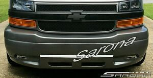 Chevy Van Express Gmc Savana Custom Conversion Front Bumper Cover With Led