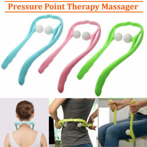 Shoulder Neck Pressure Point Massager Hand Roller Rod Stress Pain Relief 3 Color