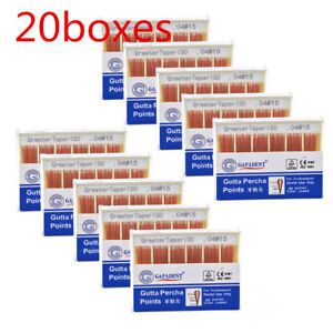 20boxes Dental Gutta Percha Point 0 04 15 Zinc Oxide Barium Sulfate