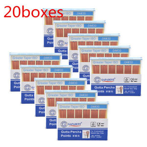 20x Dental Gutta Percha Point 0 04 30 Zinc Oxide Barium Sulfate 60 Points box