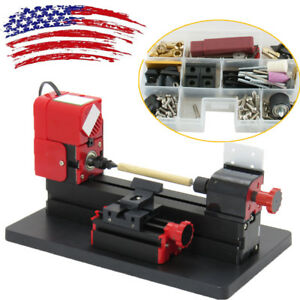 usa mini 6in1 Wood Metal Motorized Lathe Jig saw Machine Wood Diy Device Tool A