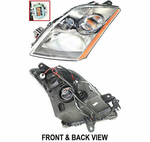 Headlight For 2007 09 Nissan Sentra Left Halogen Se R Spec V And Se R 2 5l Eng
