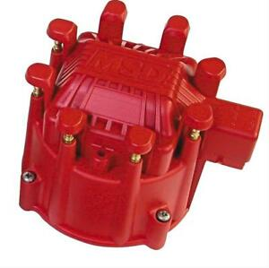 Msd Distributor Cap Extreme Male hei style Red Clamp down Pro billet Gm V8 Ea