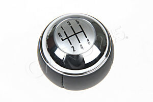 Genuine Mini Cooper One R50 Gear Shift Knob Leather chrome 6 speed 25117542272