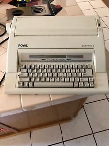 Royal Scriptor Ii Electronic Portable Typewriter Taupe