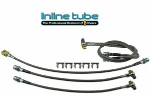 2001 2007 Silverado Sierra 2500hd 3500 Complete Brake Hose Kit Braided Stainless