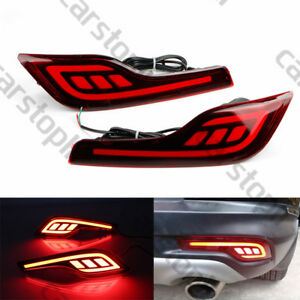 Car Led Rear Bumper Reflector Lamp Fog Brake Driving Tail Light For Honda Cr v