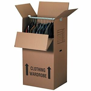 Boxes Fast Wardrobe Moving Boxes 24 l X 20 w X 46 h Kraft Pack Of 5