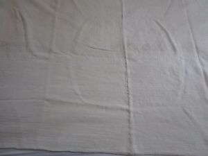 Antique Homespun Linen Coverlet 75 X 49
