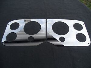 1955 56 57 58 1959 Gmc Stainless Striped Gauge Panel Overlays