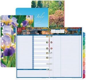 Day timer Daily Planner Refill 2019 Two Page Per Day Jan Dec 2019 Garden Path
