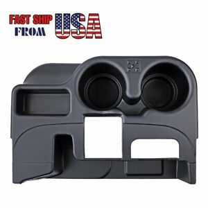 Black Center Console Add On Cup Holder For 2003 2012 Dodge Ram 1500 2500 3500