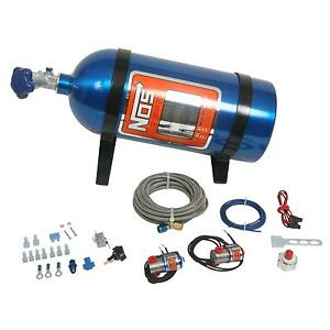 Nos Nitrous System Powershot Wet 125 Hp 10 Lb Bottle Blue Carburetor Kit