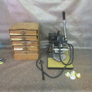 Kingsley Model M 101 Hot Foil Stamping Machine W extras Type Holders l8