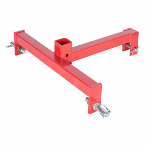 3 Point 2 Receiver Trailer Hitch Category 1 Tractor Tow Heavy Duty Drawbar Pul
