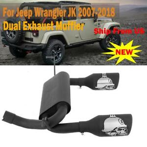 Fit Jeep Wrangler Jk Unlimited 07 18 2 4dr Cat Back Dual Exhaust Muffler System