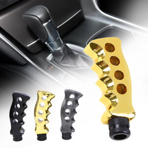 Gold Car Gun Grip Manual Gear Shift Knob Handle Aluminum Finish Shifter