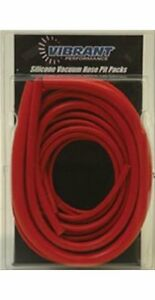 Vibrant Performance Vacuum Hose Pit Pack Silicone Red Kit