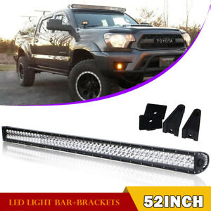 52 Inch Straight Led Work Light Bar Combo For Offroad Suv 4wd Ford Jeep 50