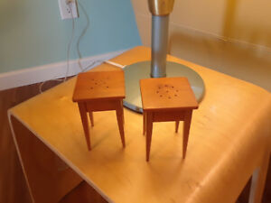 1960s Danish Modern Teak Small Scale Salt And Pepper Entry Table Mid Century