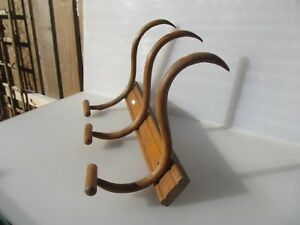 Large Vintage Wooden Coat Rack Hat Hangers Hooks French Old Farmhouse Rustic 9 W
