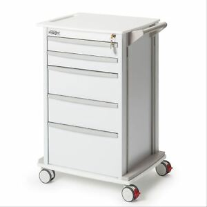 Medical Supply Storage Cart With 5 Casters 24 25 w X 19 l X 36 75 h 1 Ea