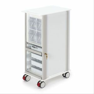 Slimmedical Supply Storage Cart With 3 Casters 13 w X 20 5 d X 35 5 h 1 Ea