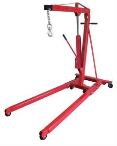 Sunex Hoist Rapid Rise Engine Crane Foldable 1 1 2 ton Steel Red Each