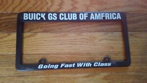 Buick Skylark Gs Gsx Official Gsca License Plate Frame