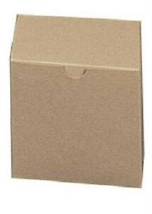Boxes Gift 100 Kraft 4 X 4 X 4 Cardboard Mugs Small Figurines Packaging