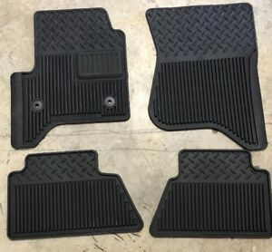Truck Floor Mats Z71 1500 2018 Chevrolet Oem All Weather Black Rubber