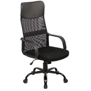 New Black Modern Fabric Mesh High Back Office Task Chair Computer Desk Seat O25