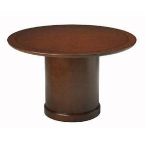 Conference Room Tables 48 Round Bourbon Cherry