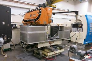 Used Leblond Makino Model Fnc 106 a30 Cnc Vertical Machining Center blow Out Pr